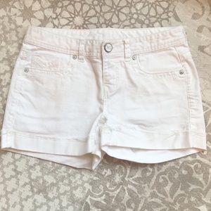 Maurices Women's or Juniors white jean shorts